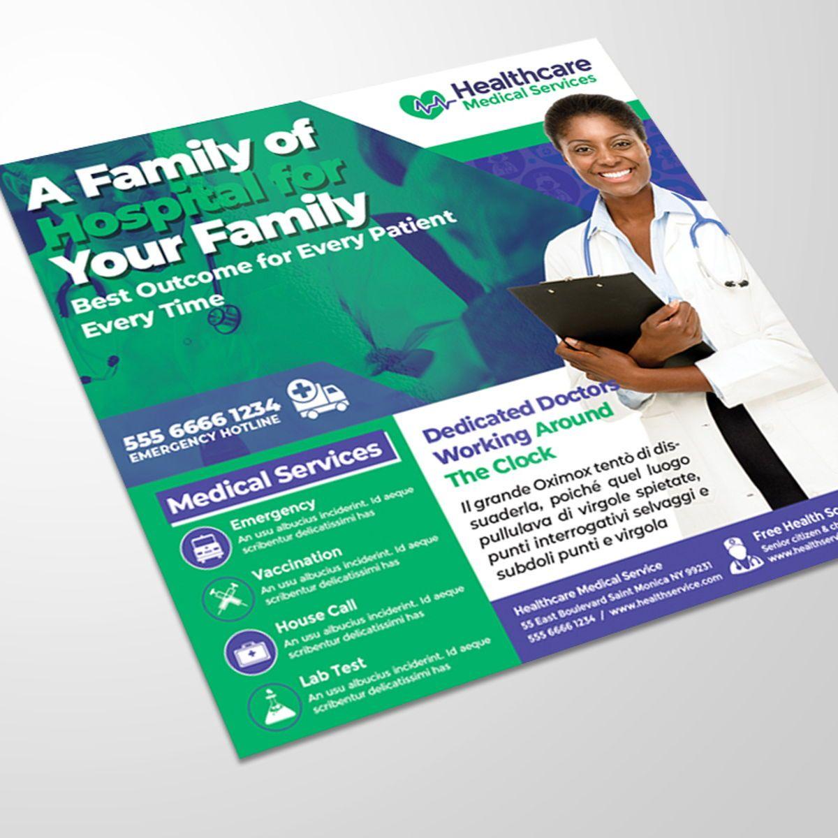 Medical Center Flyer, Slide 2, 08567, Medical — PoweredTemplate.com