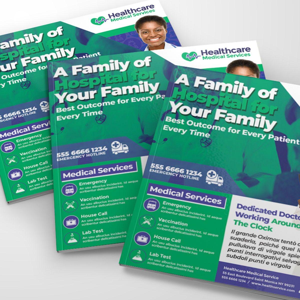 Medical Center Flyer, Slide 3, 08567, Medical — PoweredTemplate.com