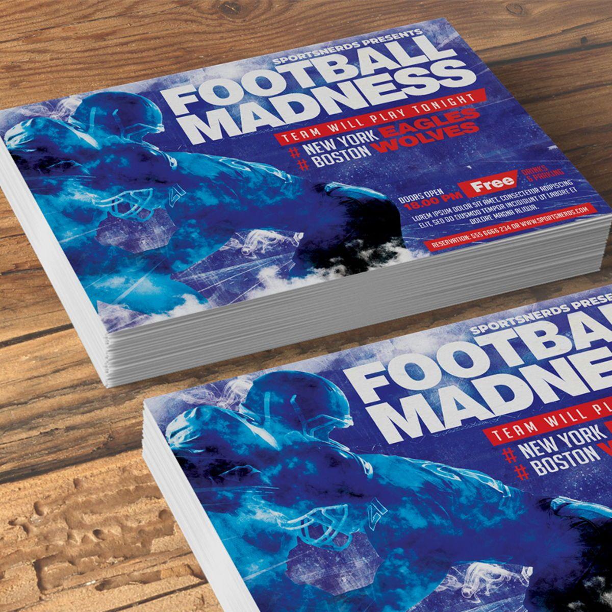 Football Flyer Template, 08568, Sports — PoweredTemplate.com