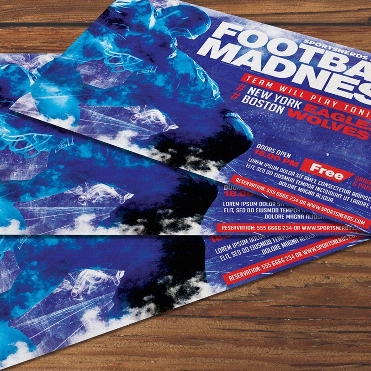 Football Flyer Template, Slide 2, 08568, Sports — PoweredTemplate.com