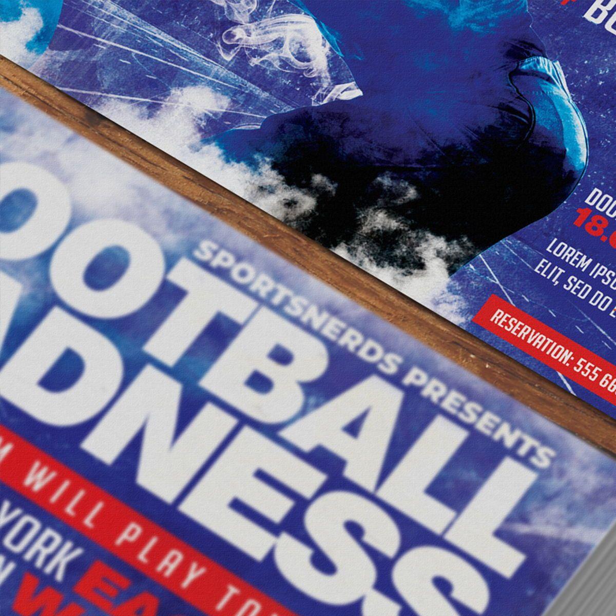 Football Flyer Template, Slide 3, 08568, Sports — PoweredTemplate.com