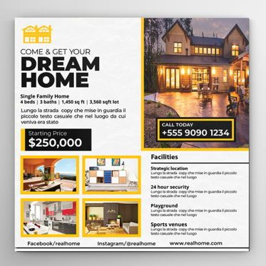 Business: Real Estate Flyer Template #08569