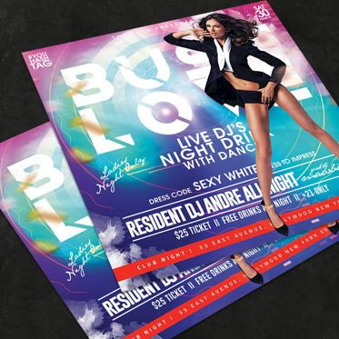 Art & Entertainment: Night Club Flyer Template #08570