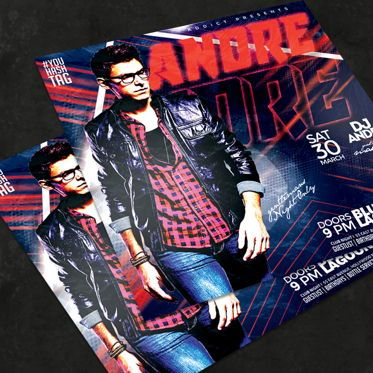 Art & Entertainment: Night Club Flyer Template #08572