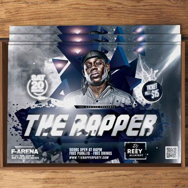 Art & Entertainment: The Rapper Party Flyer Template #08574