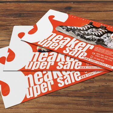 Business: Sneaker Sale Flyer Template #08575