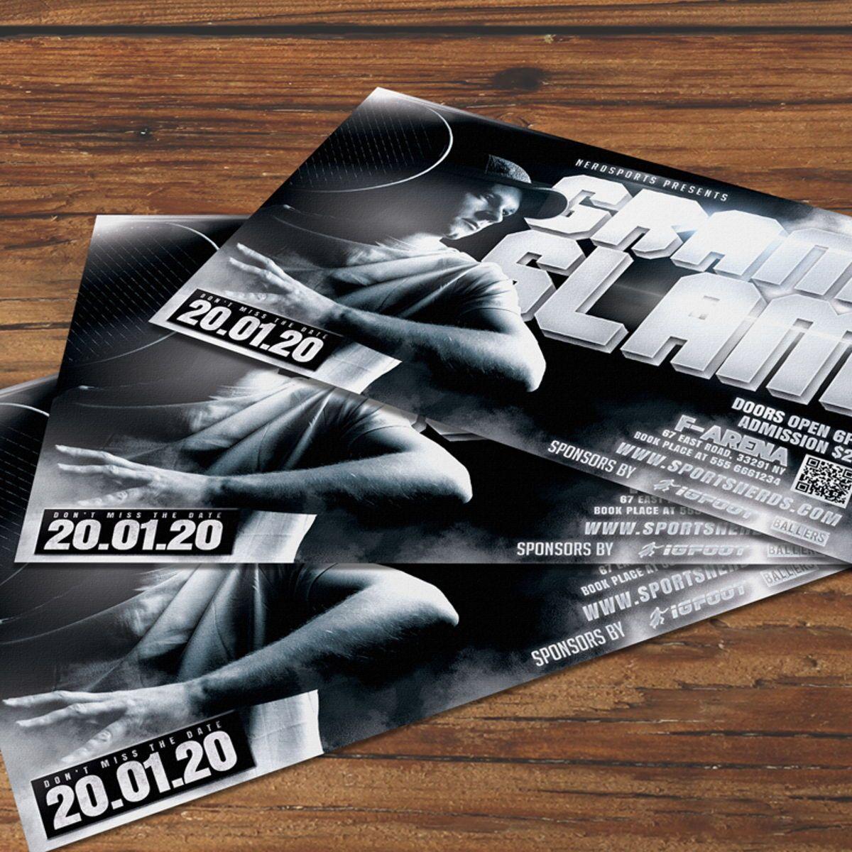 Tennis Flyer Template, 08576, Sports — PoweredTemplate.com