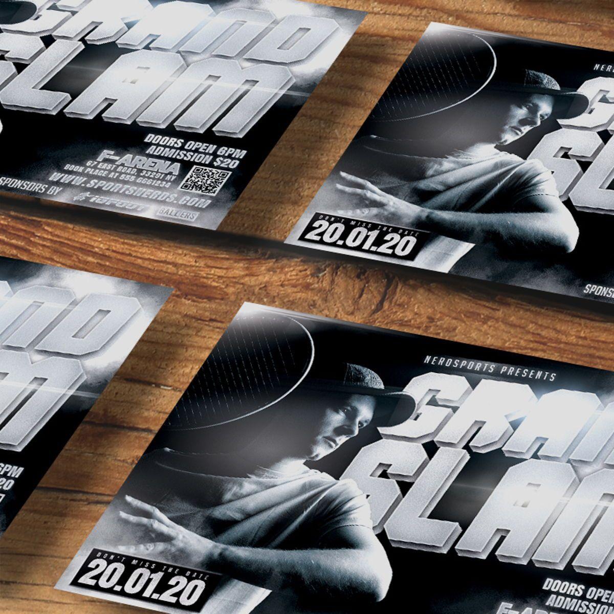 Tennis Flyer Template, Slide 4, 08576, Sports — PoweredTemplate.com