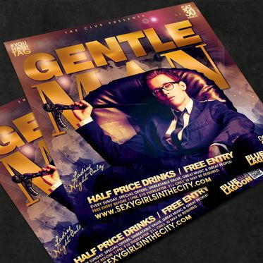 Art & Entertainment: Night Club Flyer Template #08579