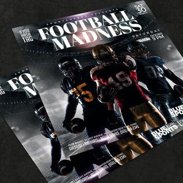Sports: Football Flyer Template #08580