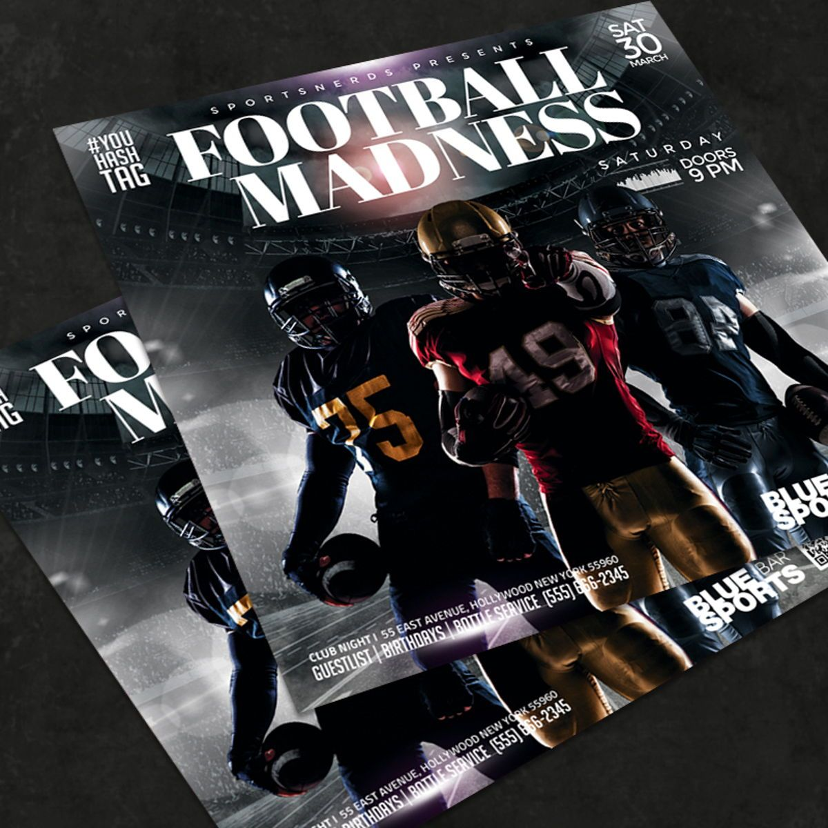 Football Flyer Template, 08580, Sports — PoweredTemplate.com