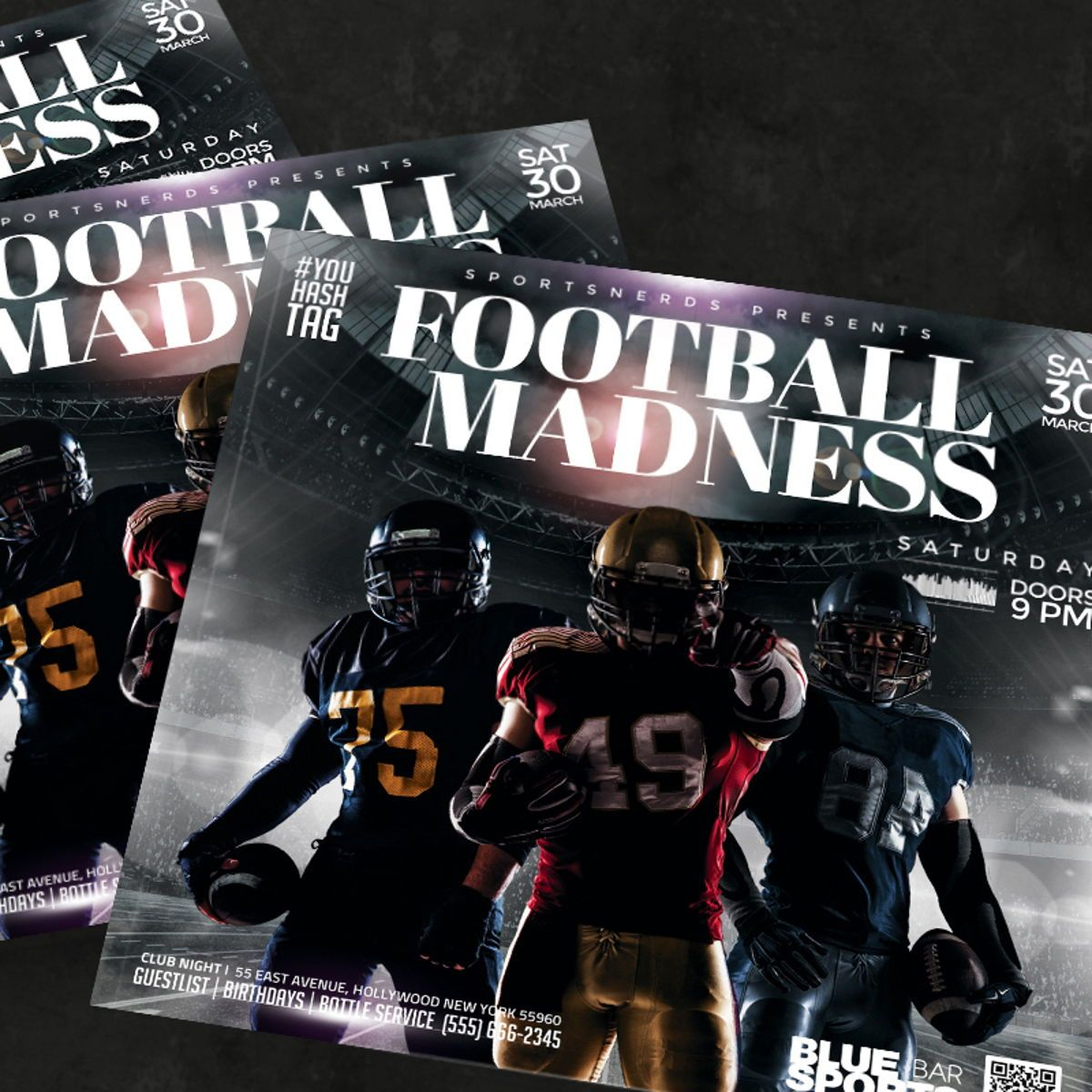 Football Flyer Template, Slide 3, 08580, Sports — PoweredTemplate.com