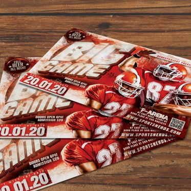 Sports: Game Day Flyer Template #08581