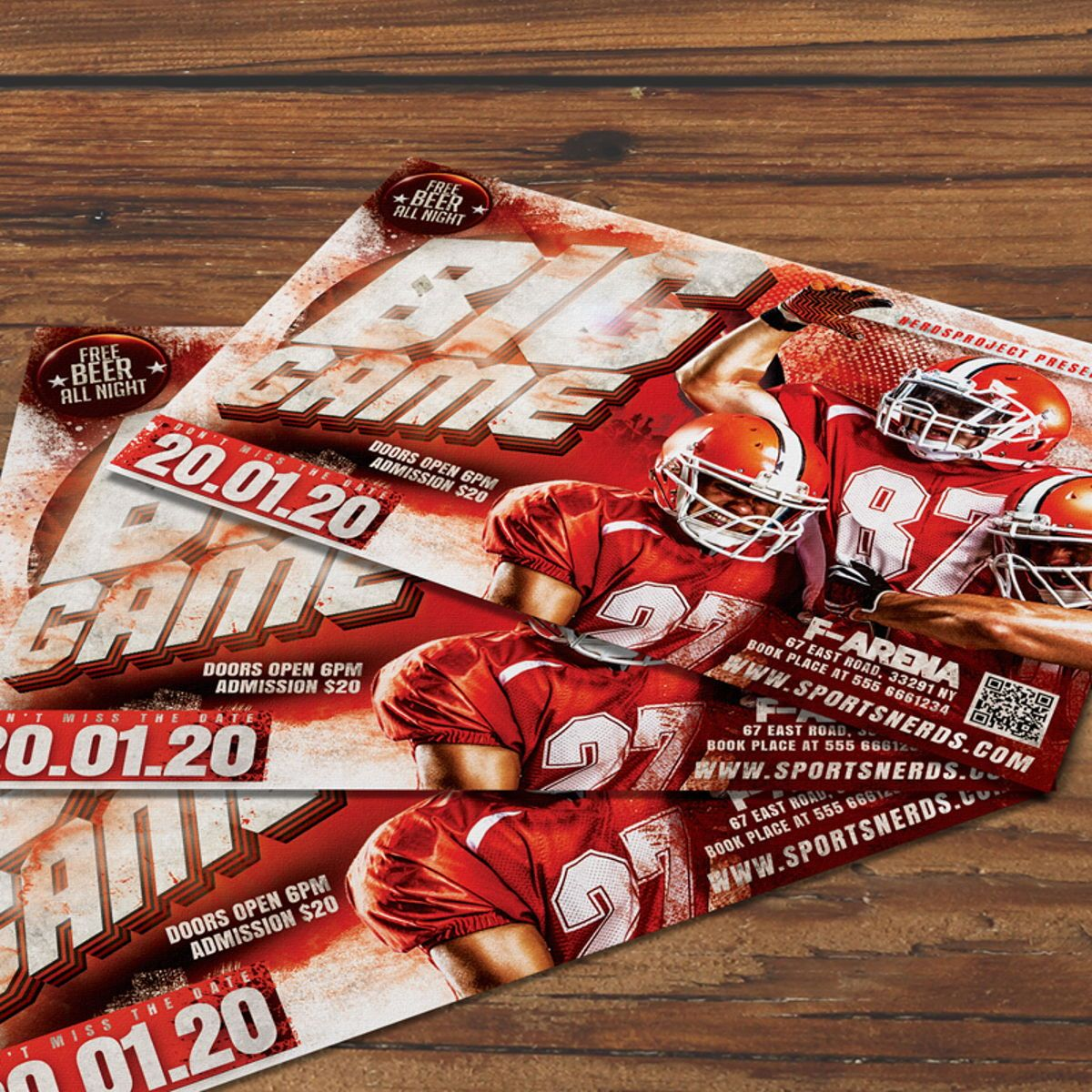 Game Day Flyer Template, 08581, Sports — PoweredTemplate.com