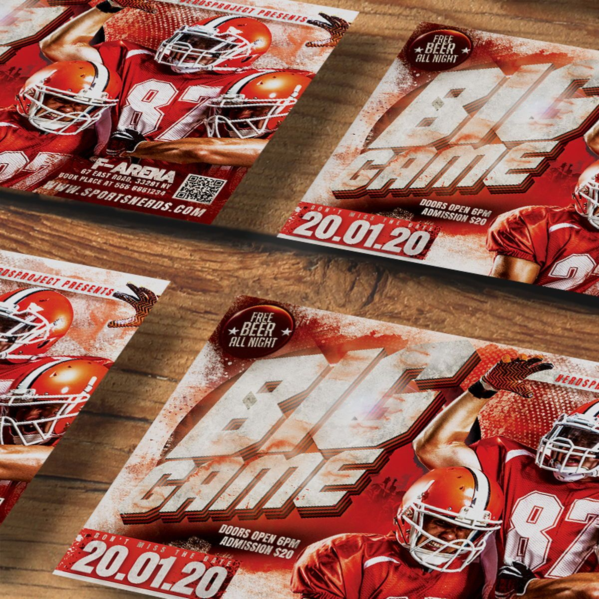 Game Day Flyer Template, Slide 2, 08581, Sports — PoweredTemplate.com