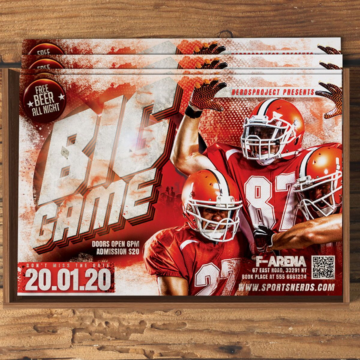 Game Day Flyer Template, Slide 3, 08581, Sports — PoweredTemplate.com