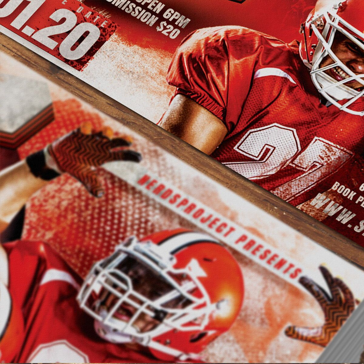 Game Day Flyer Template, Slide 4, 08581, Sports — PoweredTemplate.com