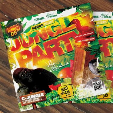 Art & Entertainment: Jungle Party Flyer Template #08582