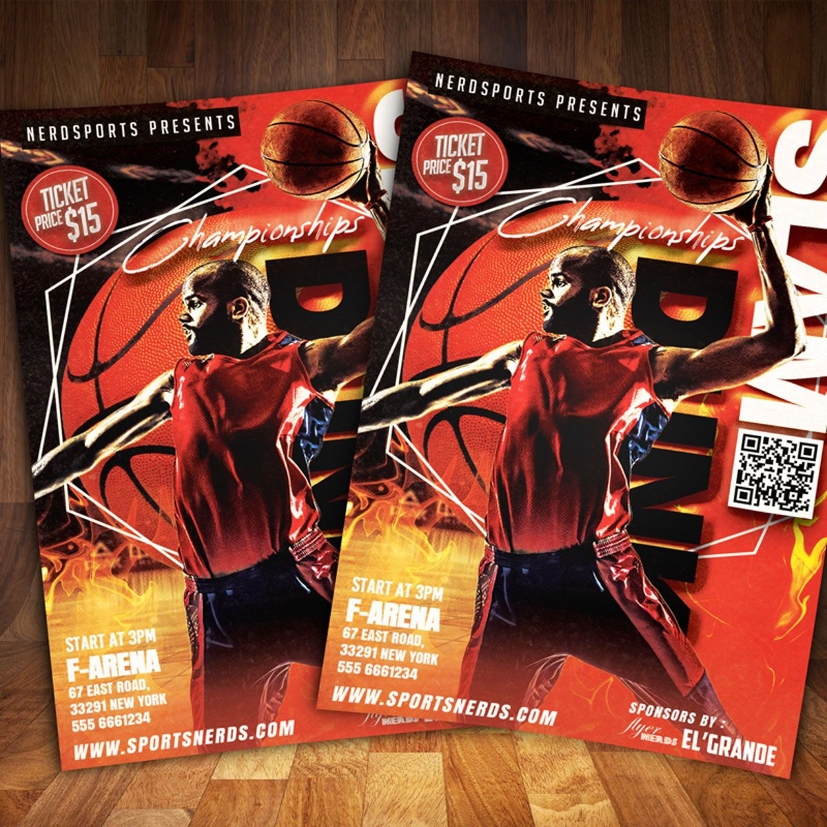 Slamdunk Championships Flyer, 08583, Sports — PoweredTemplate.com