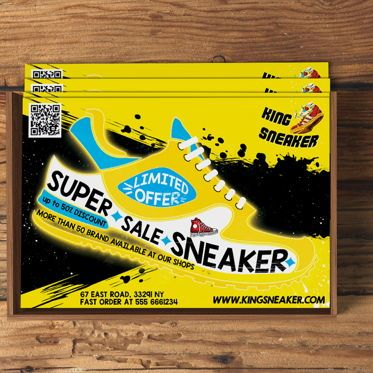 Business: Sneaker Store Flyer Template #08584
