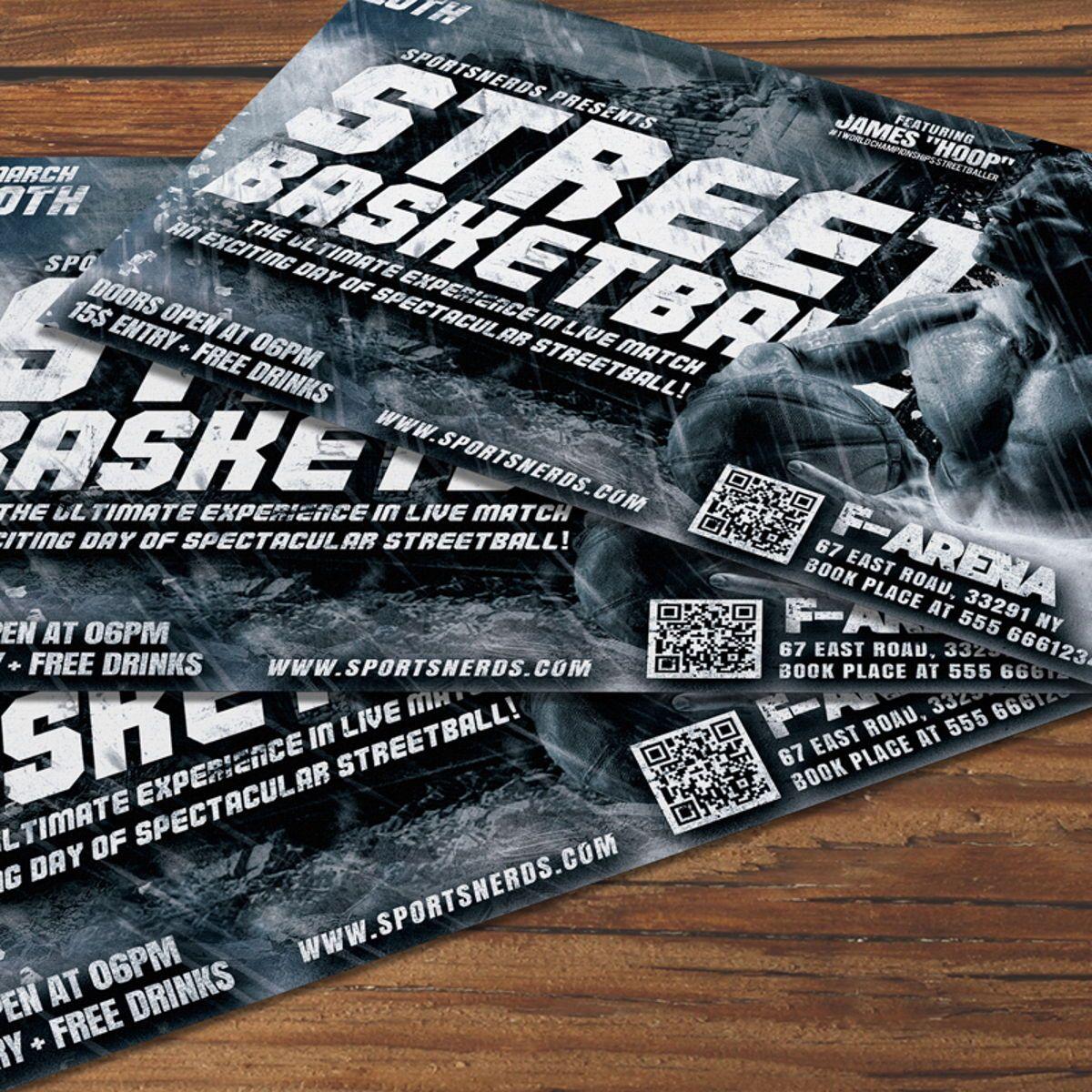 Street Basketball Flyer, 08585, Sports — PoweredTemplate.com