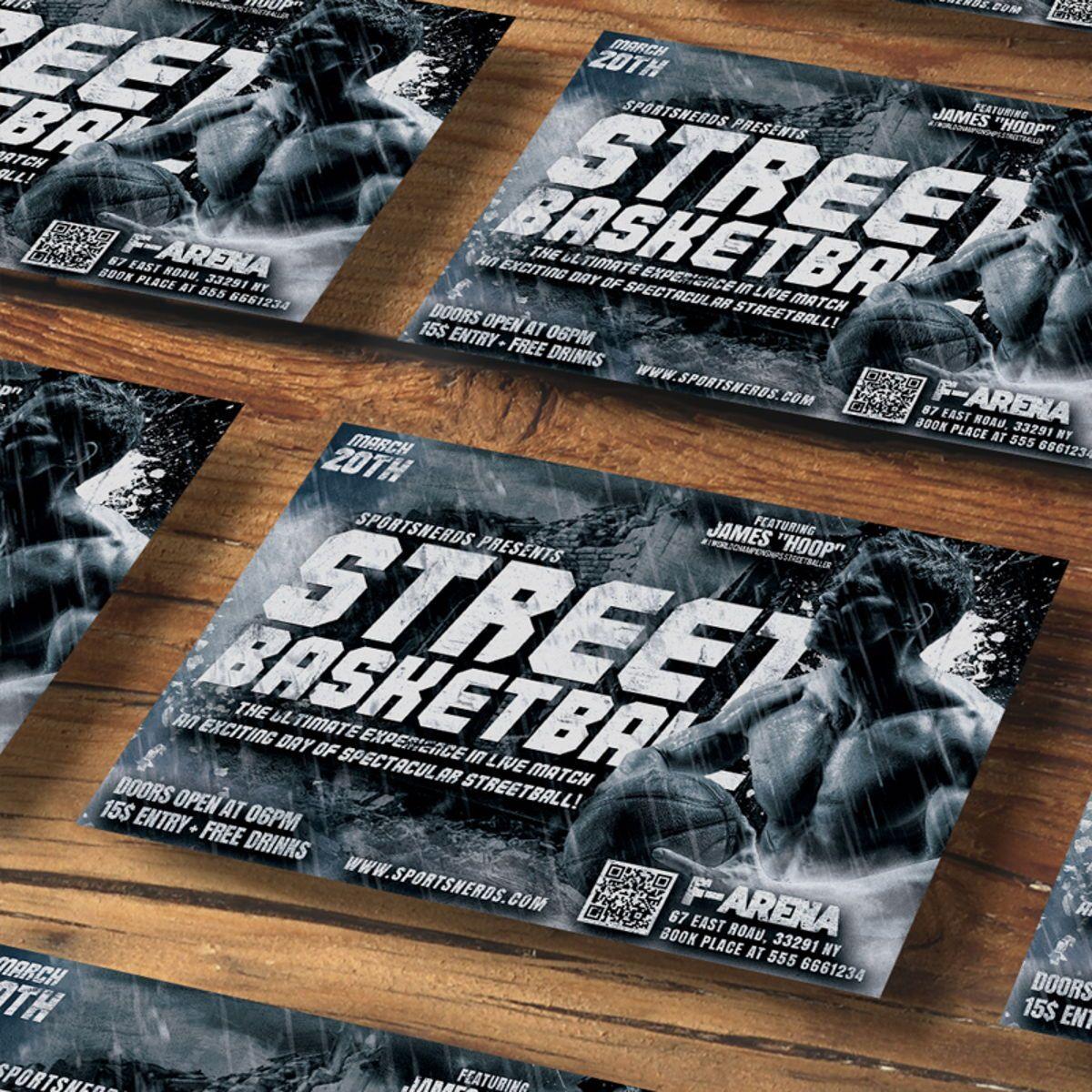 Street Basketball Flyer, Slide 2, 08585, Sports — PoweredTemplate.com
