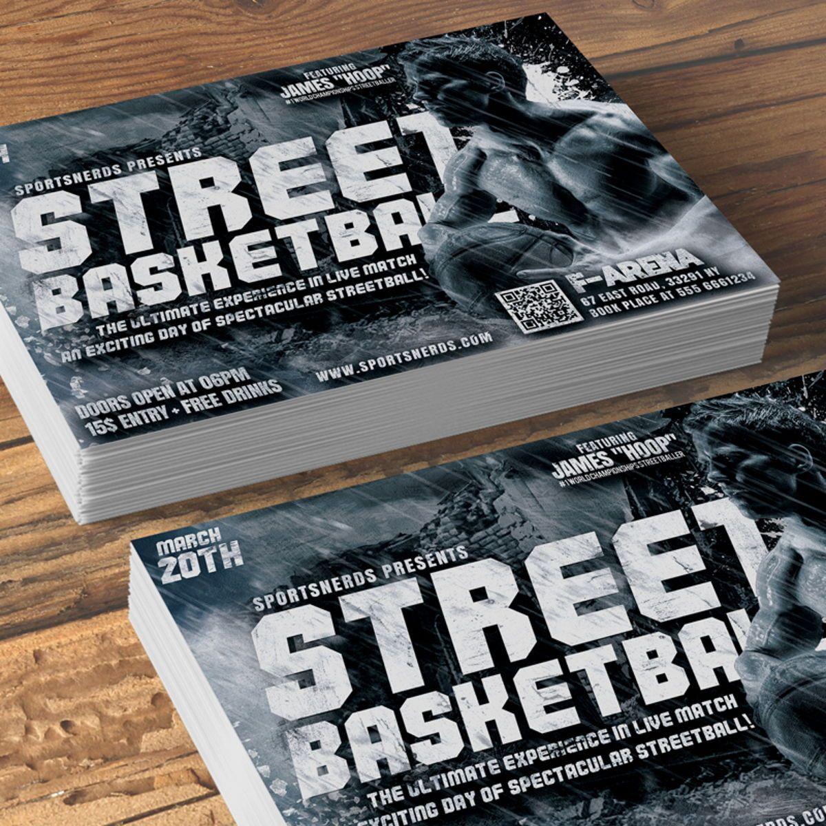 Street Basketball Flyer, Slide 3, 08585, Sports — PoweredTemplate.com