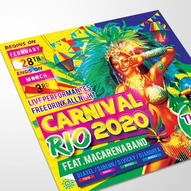 Art & Entertainment: Rio Carnival Flyer Template #08586