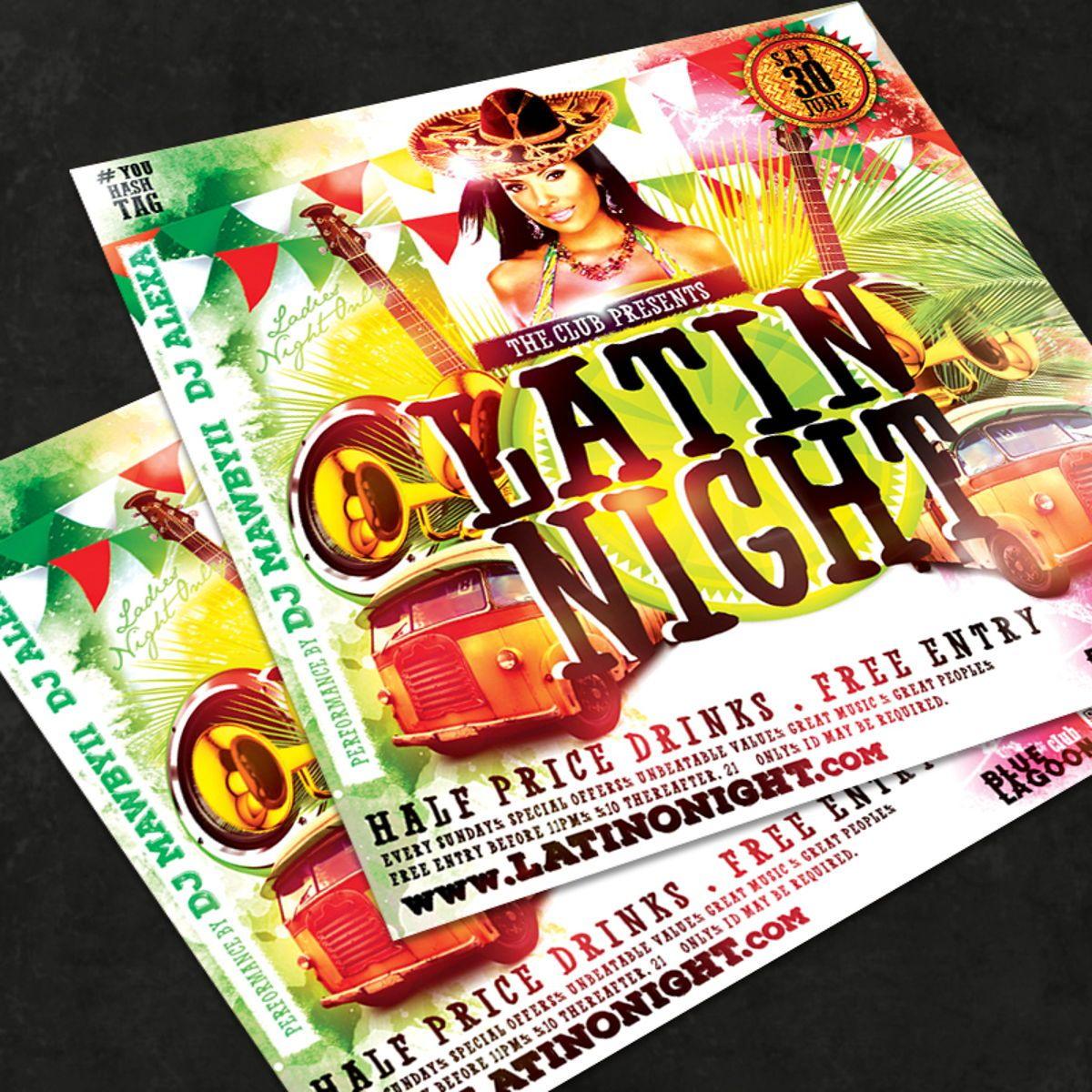 Night Club Flyer Template, 08590, Art & Entertainment — PoweredTemplate.com