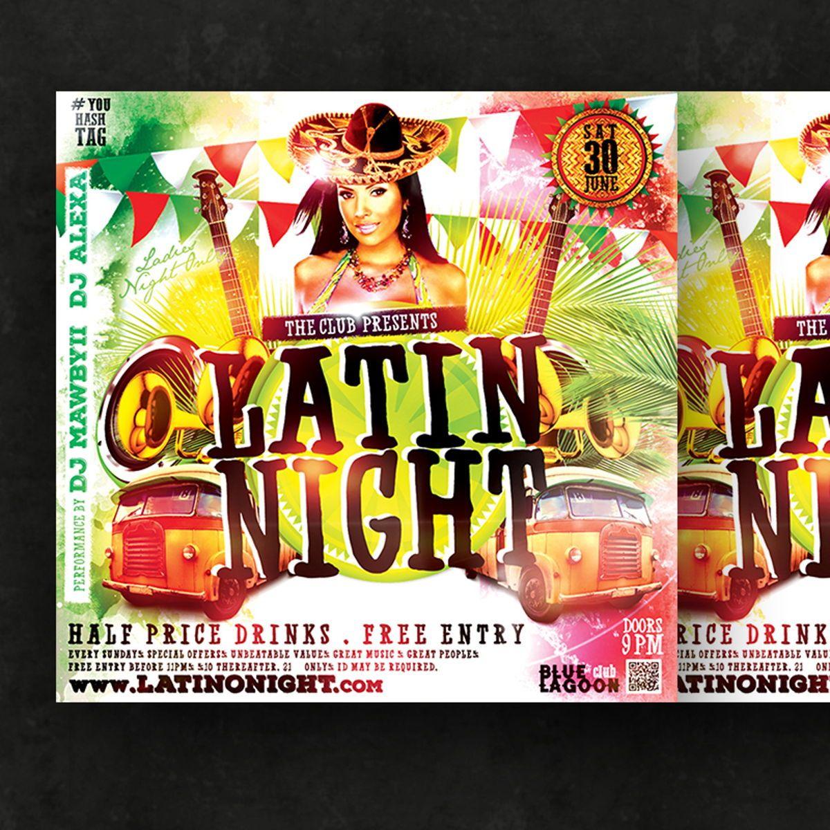 Night Club Flyer Template, Slide 2, 08590, Art & Entertainment — PoweredTemplate.com