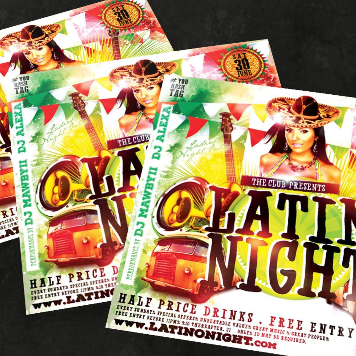 Night Club Flyer Template, Slide 3, 08590, Art & Entertainment — PoweredTemplate.com