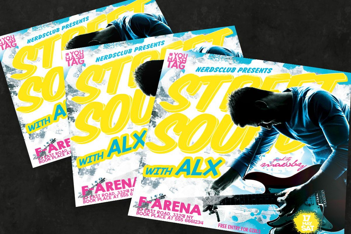Concert Flyer Template, 08591, Art & Entertainment — PoweredTemplate.com