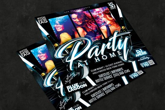 Art & Entertainment: Night Club Flyer Template #08592