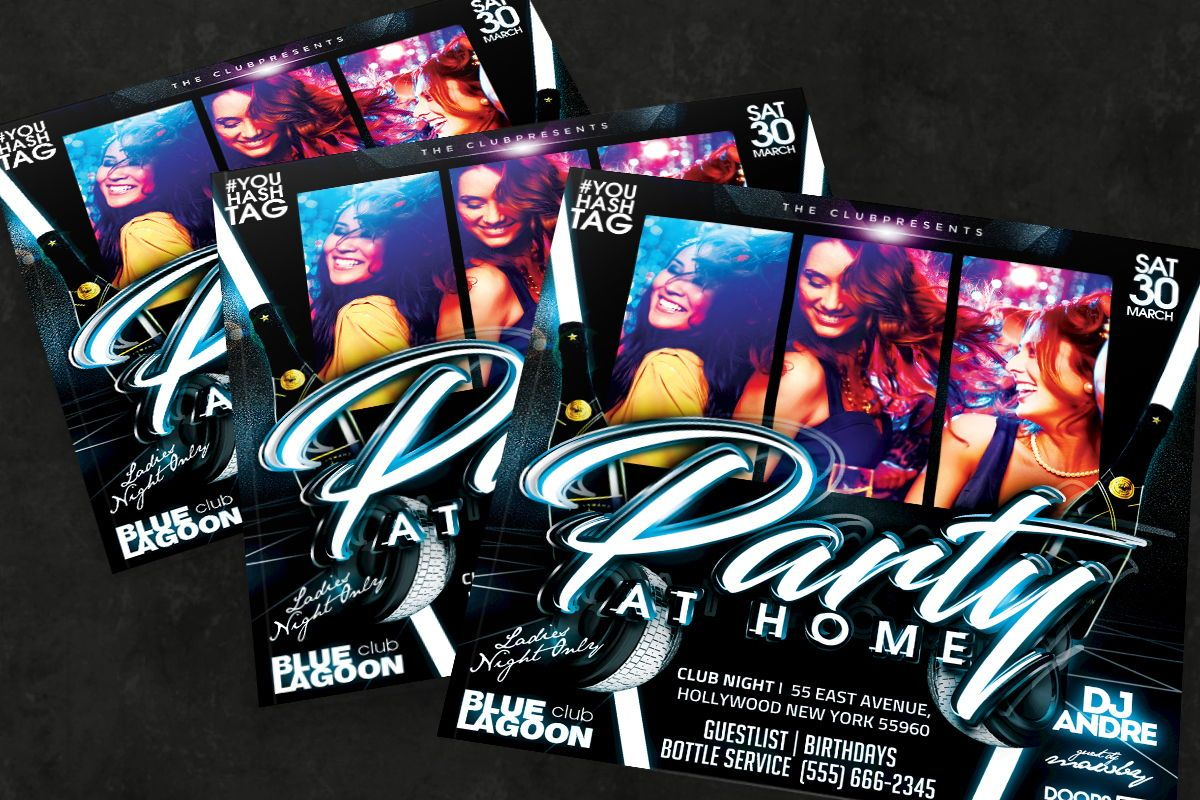 Night Club Flyer Template, Slide 3, 08592, Art & Entertainment — PoweredTemplate.com