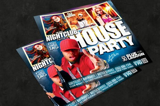 Art & Entertainment: Night Club Flyer Template #08593
