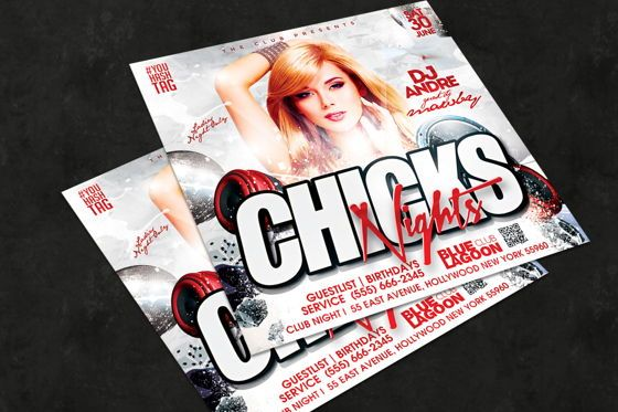 Art & Entertainment: Night Club Flyer Template #08594