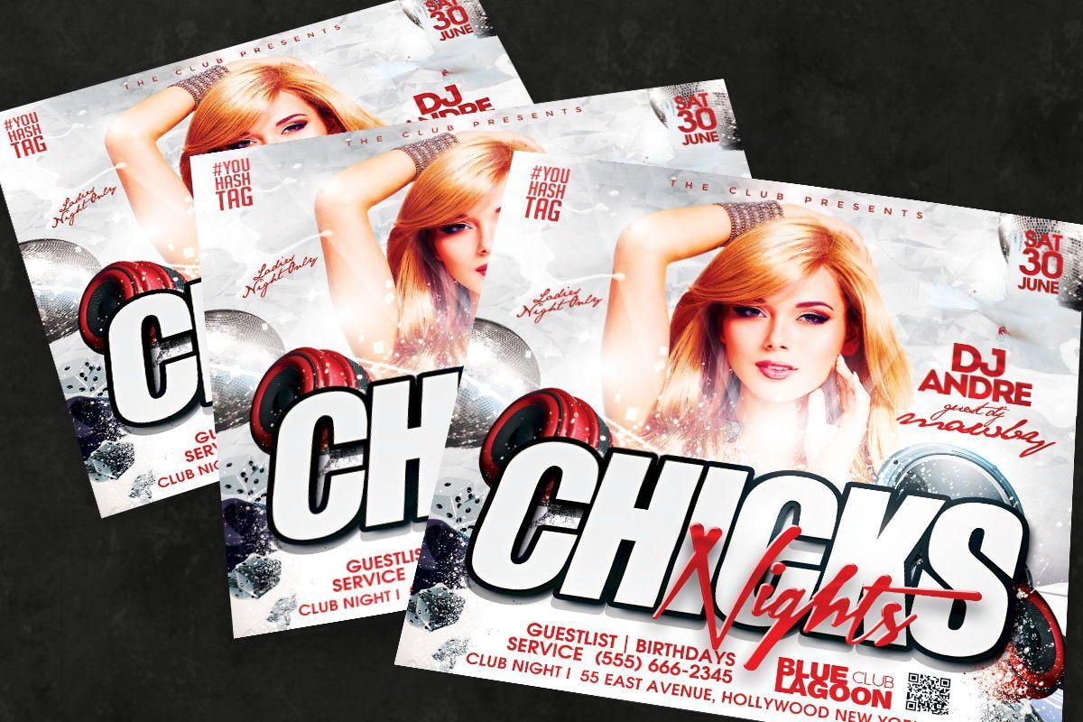 Night Club Flyer Template, Slide 3, 08594, Art & Entertainment — PoweredTemplate.com