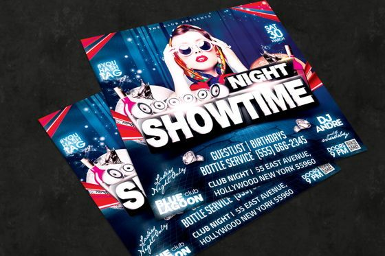 Art & Entertainment: Night Club Flyer Template #08595