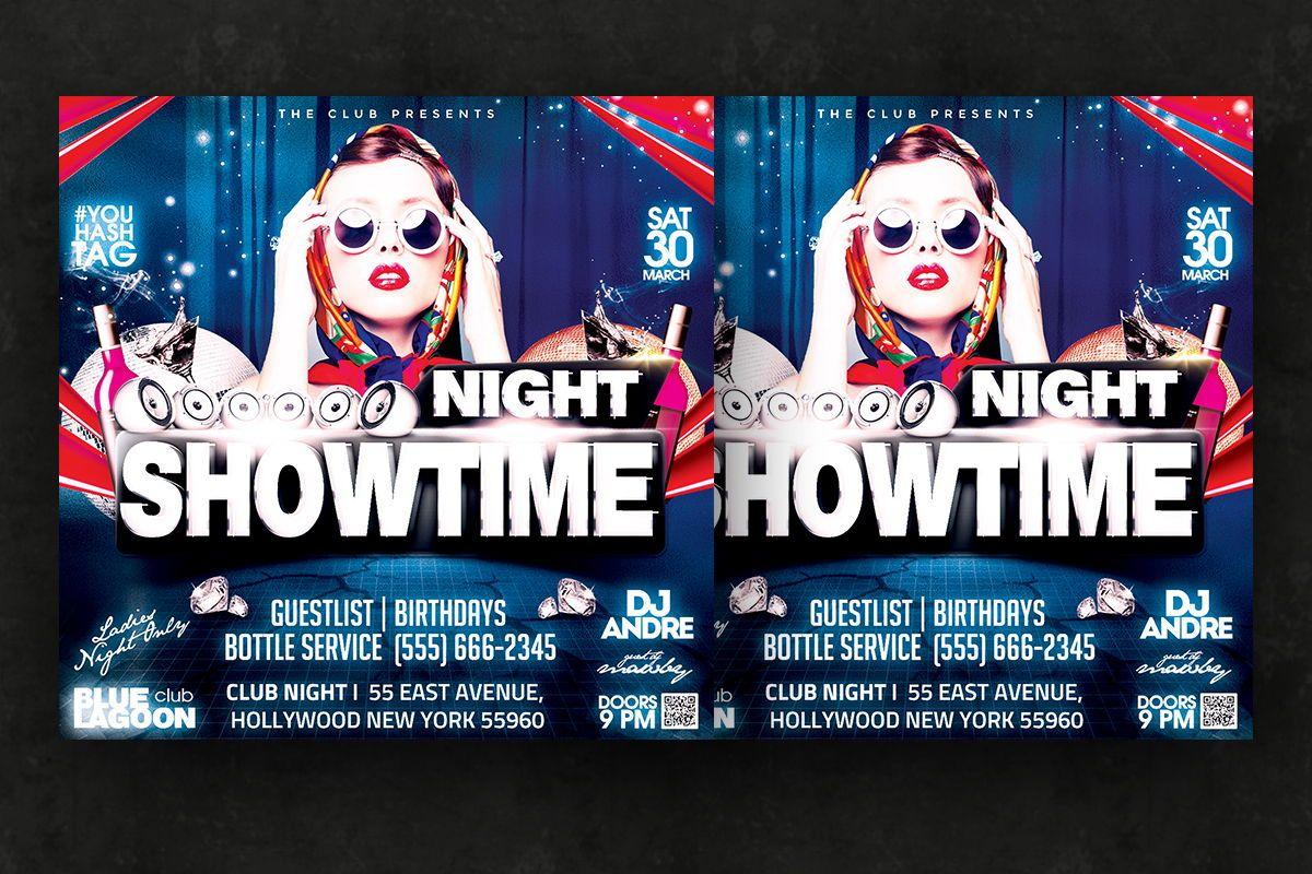 Night Club Flyer Template, Slide 2, 08595, Art & Entertainment — PoweredTemplate.com