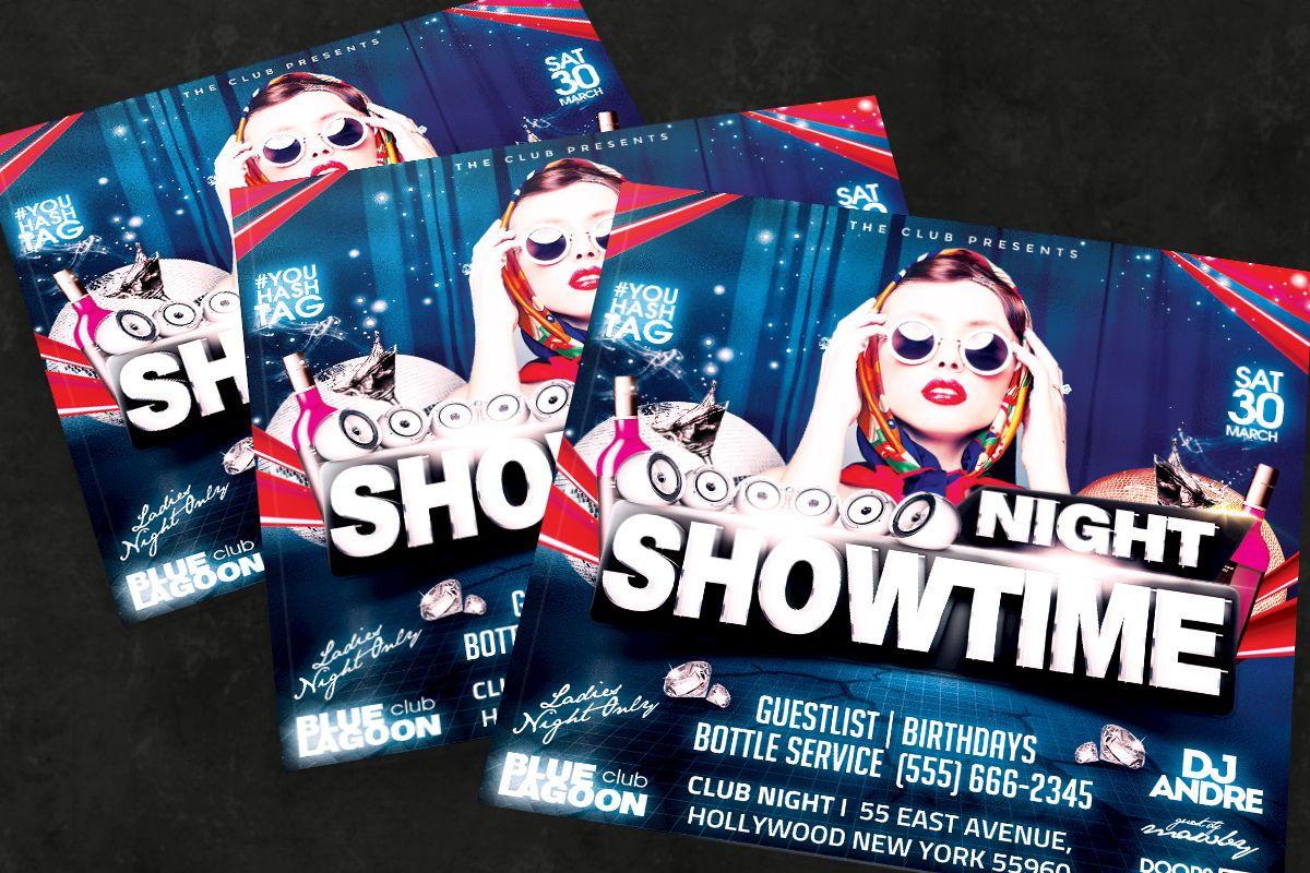 Night Club Flyer Template, Slide 3, 08595, Art & Entertainment — PoweredTemplate.com