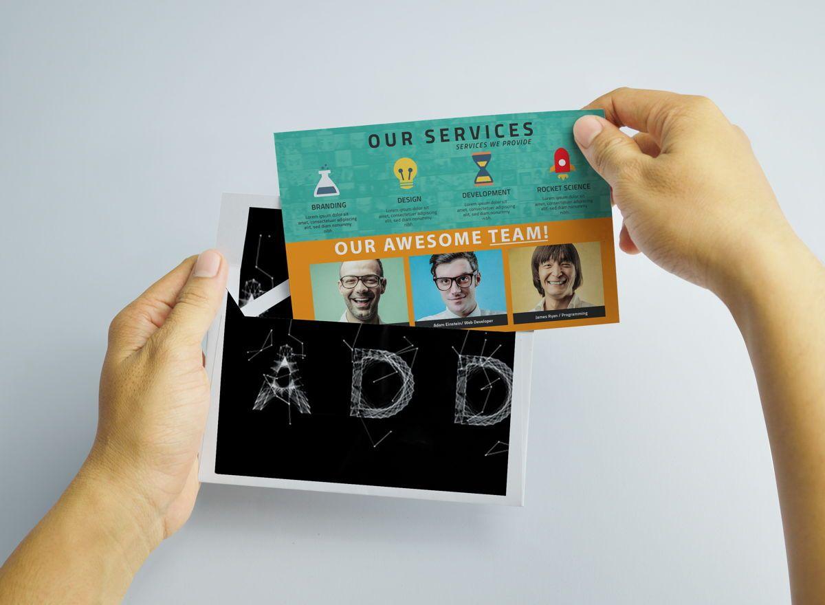 Corporate PostCard Template, 08597, Business — PoweredTemplate.com