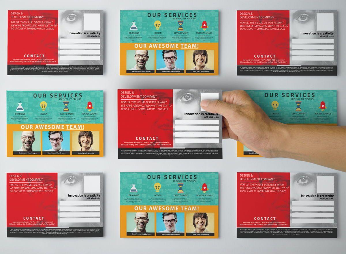 Corporate PostCard Template, Slide 2, 08597, Business — PoweredTemplate.com