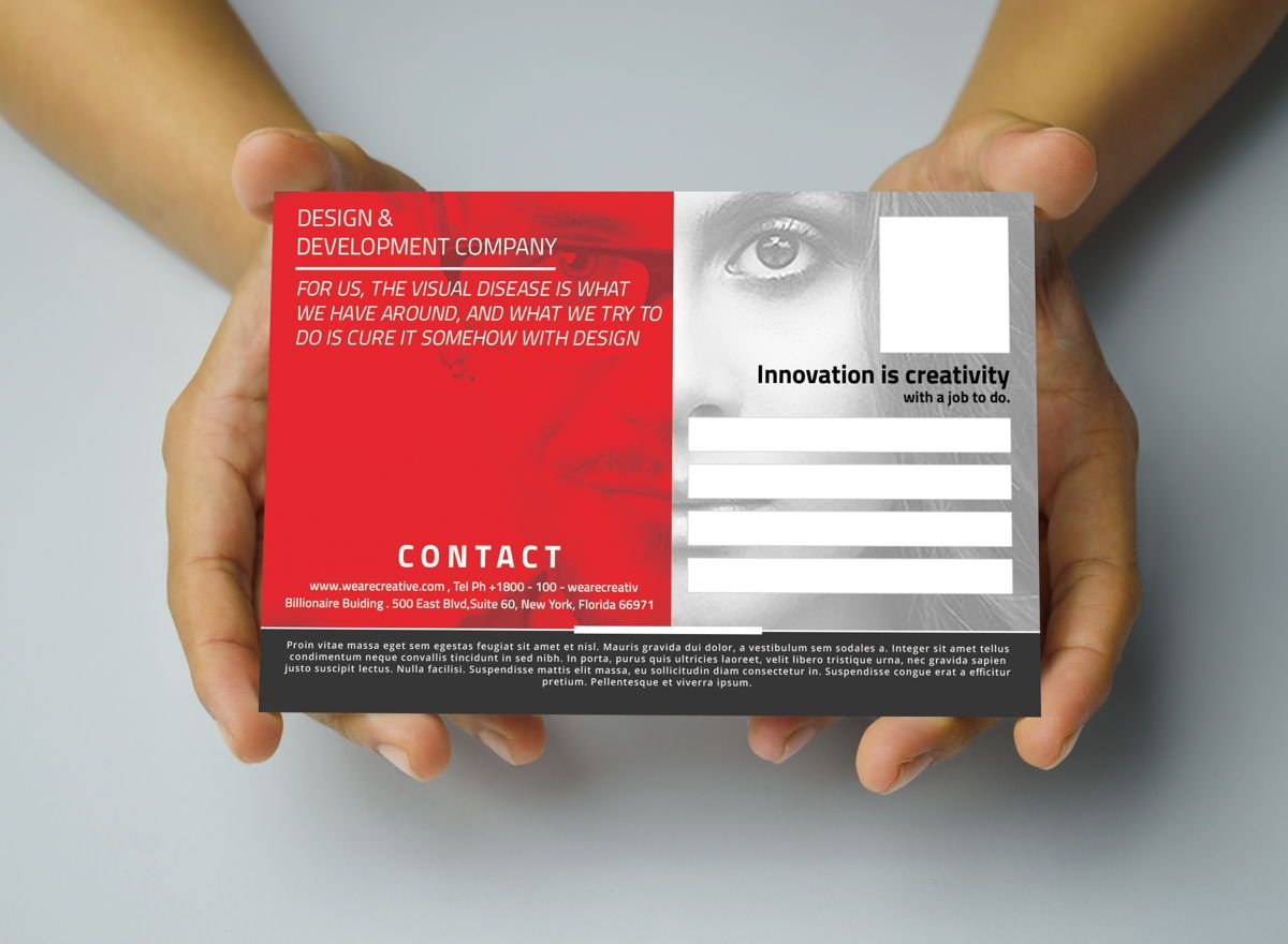 Corporate PostCard Template, Slide 3, 08597, Business — PoweredTemplate.com