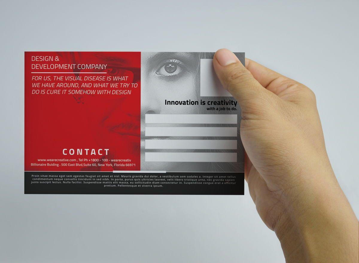 Corporate PostCard Template, Slide 4, 08597, Business — PoweredTemplate.com