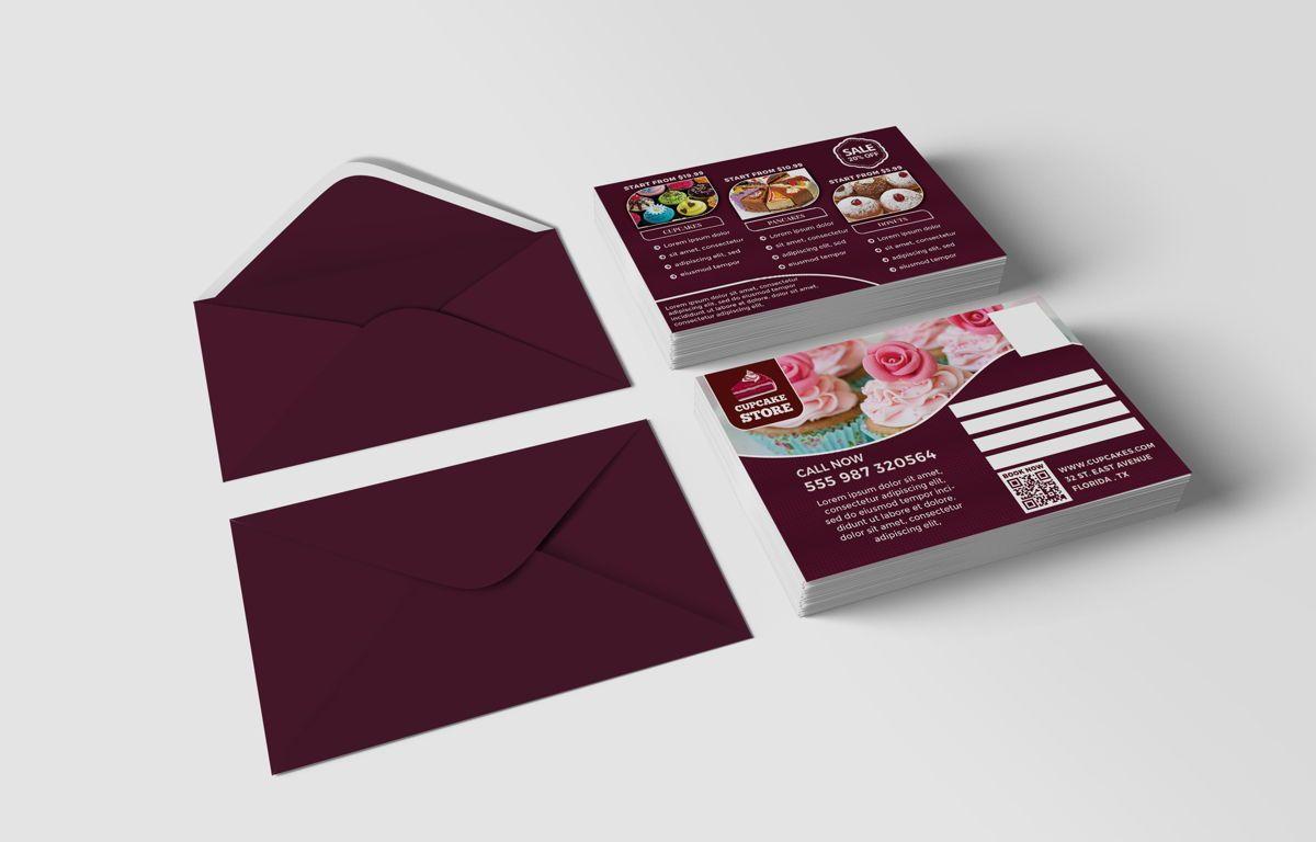 Cupcake Store PostCard Template, Slide 2, 08598, Business — PoweredTemplate.com