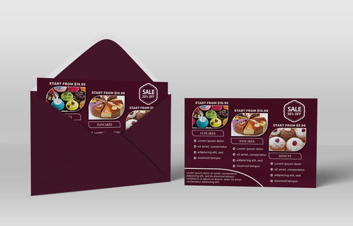 Cupcake Store PostCard Template, Slide 3, 08598, Business — PoweredTemplate.com