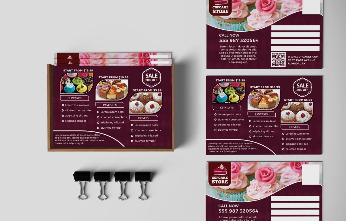 Cupcake Store PostCard Template, Slide 4, 08598, Business — PoweredTemplate.com