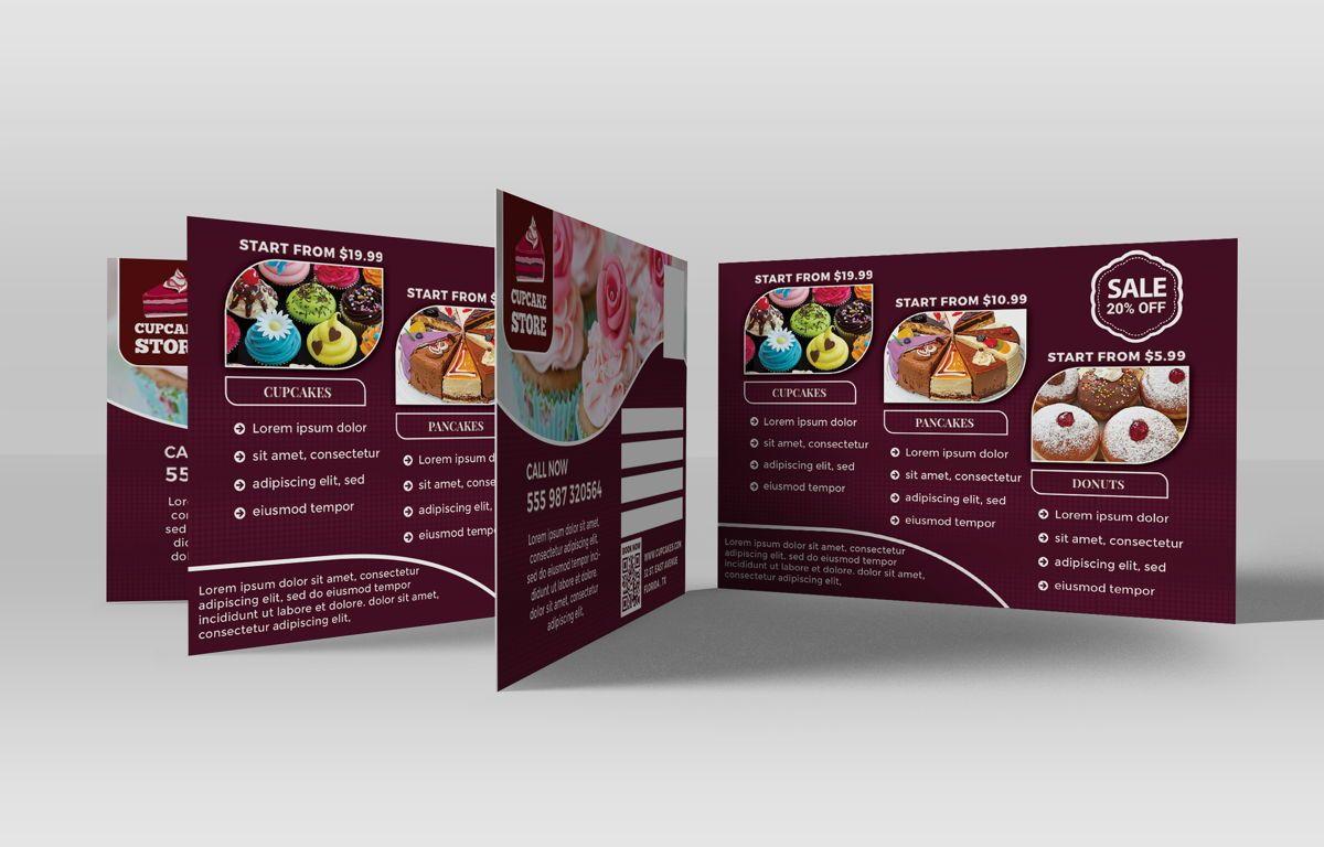 Cupcake Store PostCard Template, Slide 5, 08598, Business — PoweredTemplate.com