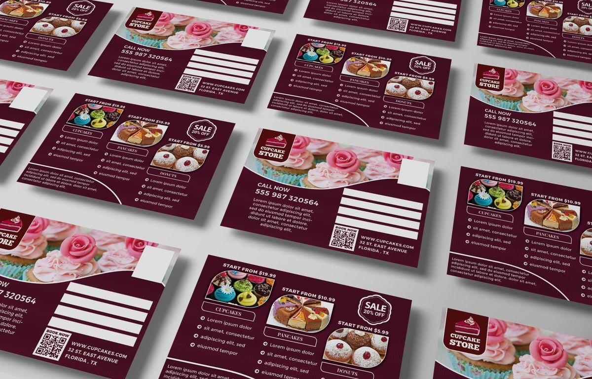 Cupcake Store PostCard Template, Slide 6, 08598, Business — PoweredTemplate.com