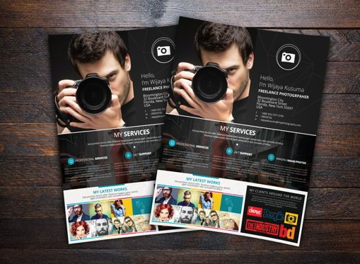 Business: Freelance Photographer Flyer Template #08599